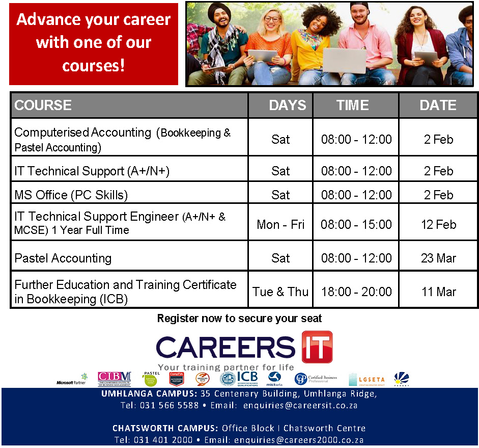 Accredited Training Provider Hq In Durban I Careers It